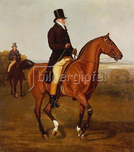 Jacques Laurent Agasse: Bildnis des Francis Augustus Lord von Heathfield zu Pferde.