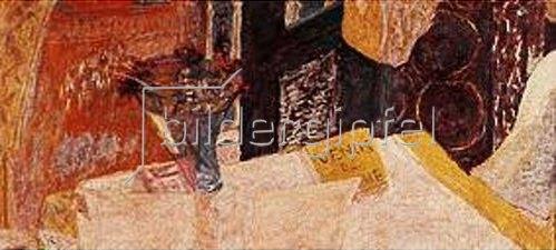 Pierre Bonnard: Stilleben mit Blumenvase und Büchern. Um 1932.