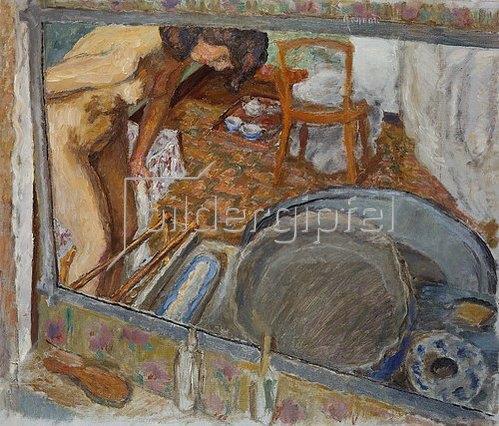 Pierre Bonnard: Spiegelbild einer Frau an der Wanne. 1915