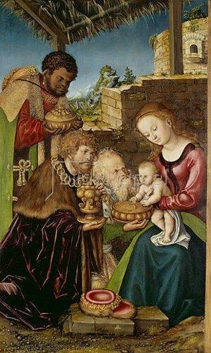 Lucas Cranach d.Ä.: Anbetung der Könige.