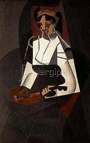 Juan Gris: Frau mit Mandoline. 1916.
