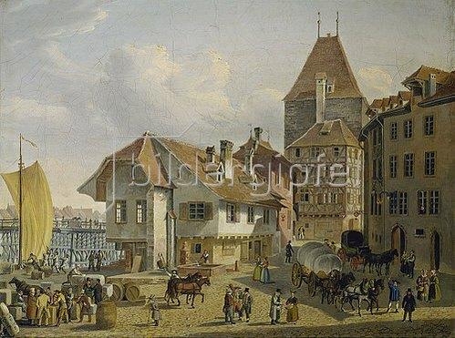 Konstantin Guise: Die Schifflände in Basel.