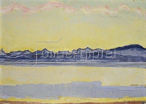 Ferdinand Hodler: Der Montblanc mit roten Wolken. 1918