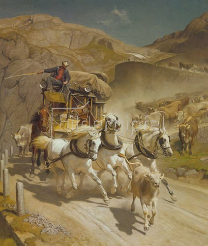 Rudolf Koller: Die Gotthard-Post. 1873.