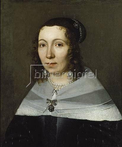 Niederländischer Meister: Portrait einer Dame (ehemals Bildnis der Sibylla Merian).