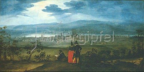 Matthäus Merian d.Ä.: Blick von Bruderholz auf die Stadt Basel 1623/1624.