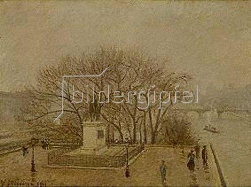Camille Pissarro: Denkmal Heinrichs IV. und Pont des Arts in Paris. 1901.