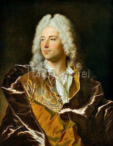 Hyacinthe Rigaud: Bildnis des Chevalier Lucas Schaub von Basel. 1722.