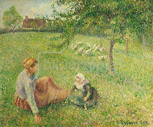 Camille Pissarro: Die Gänsehirtin. 1893