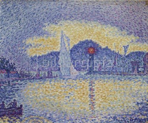 Paul Signac: Kaimauer und Leuchtturm. 1898