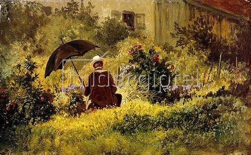 Carl Spitzweg: Der Maler Im Garten.