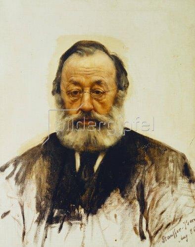Karl Stauffer-Bern: Bildnis Gottfried Keller. 1886.