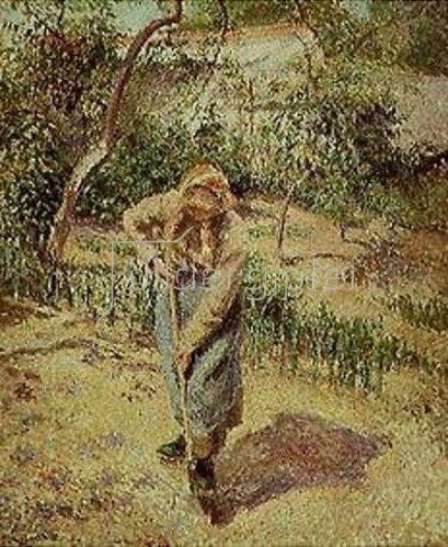 Camille Pissarro: Bauersfrau bei der Gartenarbeit.