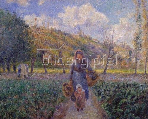 Camille Pissarro: Im Gemüsegarten. 1881