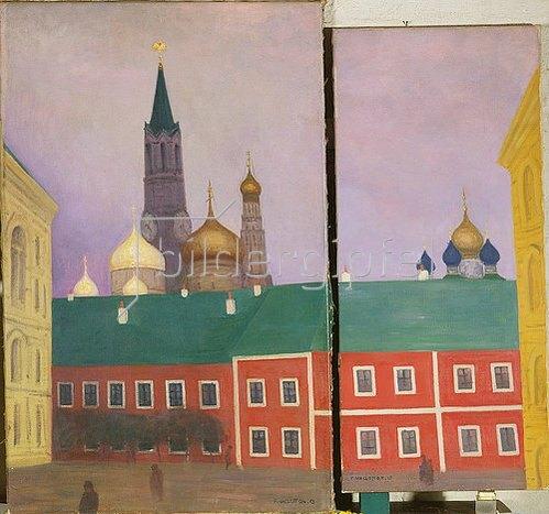 Felix Vallotton: Moskau. 1913. Diptychon