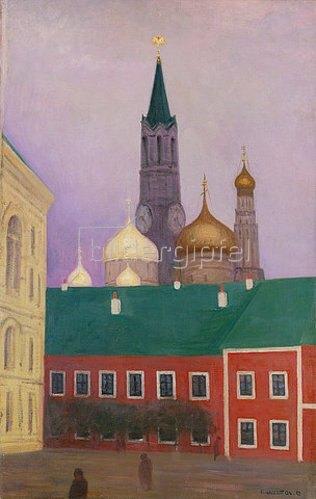 Moskau. 1913. Linke Tafel des Diptychons von Felix Vallotton