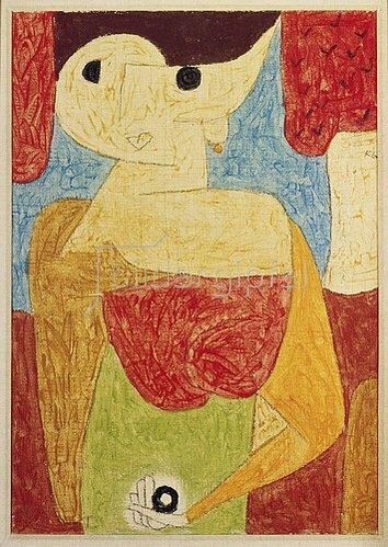 Paul Klee: Omphalo-centrischer Vortrag. 1939.