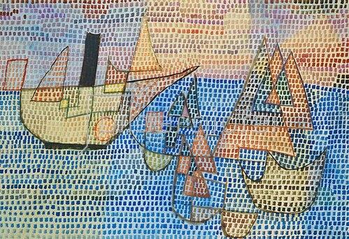 Paul Klee: Dampfer und Segelboote. 1931