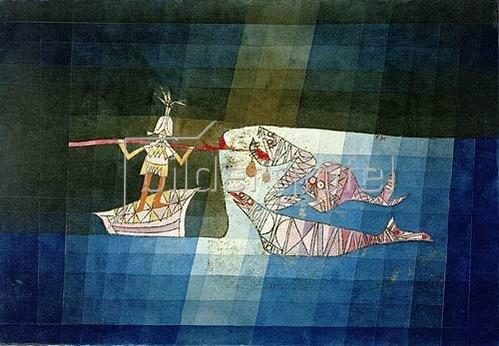 Paul Klee: Kampfszene aus der komisch - phantastischen Oper Der Seefahrer. 1923.