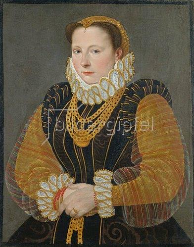 Hans Bock d.Ä.: Bildnis der Eva Truchsess von Rheinfelden. 1580.