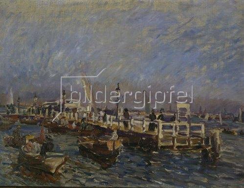 Max Slevogt: Landungsbrücken von Uhlenhorst. 1905