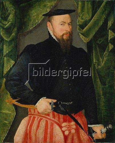 Hans Bock d.Ä.: Bildnis des Baseler Ratsherrn Melchior Hornlocher. 1577.