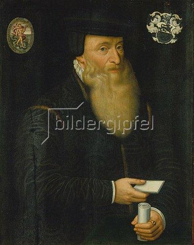 Hans Bock d.Ä.: Bildnis des Johannes Oporinus. 1576.