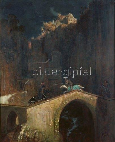 Arnold Böcklin: Kampf auf der Brücke. 1882.