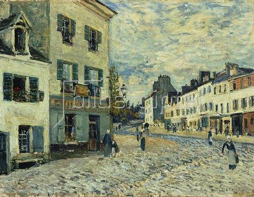 Alfred Sisley: Marktplatz in Marly. 1876