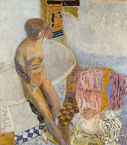 Pierre Bonnard: Weiblicher Akt, auf dem Rand einer Badewanne sitzend. 1931.
