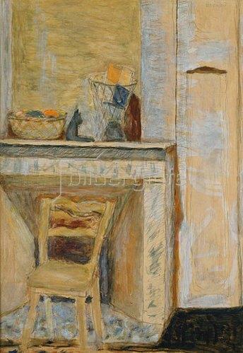 Pierre Bonnard: Stuhl vor einem Kamin.