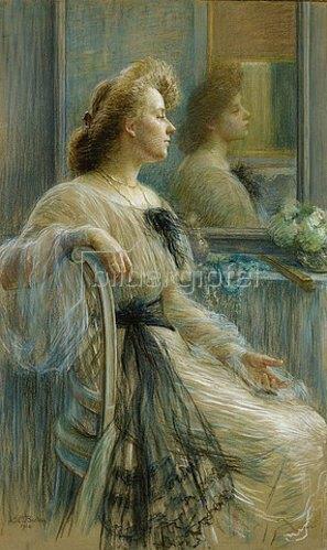 Marie-Louise Breslau: Dame vor dem Spiegel (Annette Österlind). 1904
