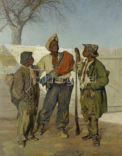 Frank Buchser: Die Heimkehr der Kriegsfreiwilligen. 1867