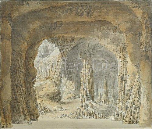 Carl Gustav Carus: Inneres der Fingalshöhle auf der Insel Staffa. Nach 1844