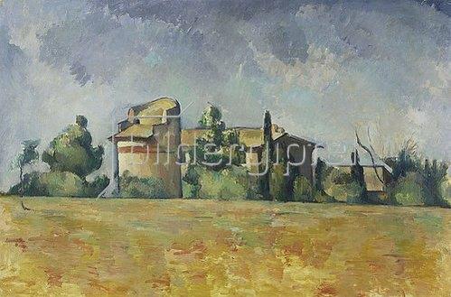 Paul Cézanne: Das Taubenhaus von Bellevue (Le pigeonnier de Bellevue). 1888/92