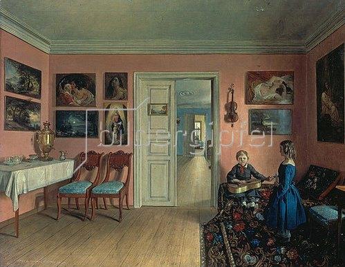 Iwan Chrutsky: Wohnraum des Künstlers. 1855