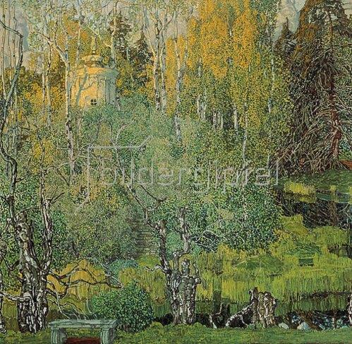 Alexander Jakowlev Golowin: Der Neskuchny-Garten in Moskau. 1910er Jahre
