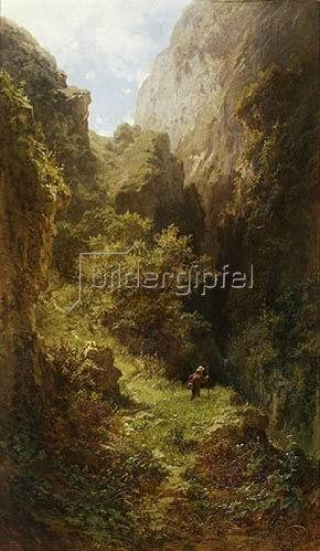 Carl Spitzweg: Angelnder Mönch. Um 1863