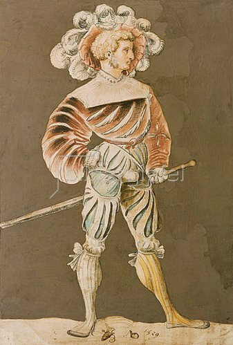 Niklaus Manuel I Deutsch: Schweizer Krieger. 1529.