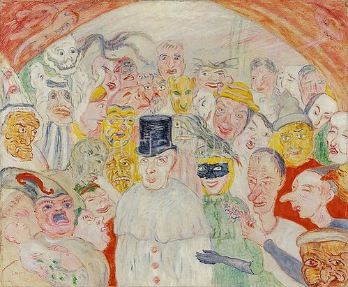 James Ensor: Die intrigierenden Masken. 1890.