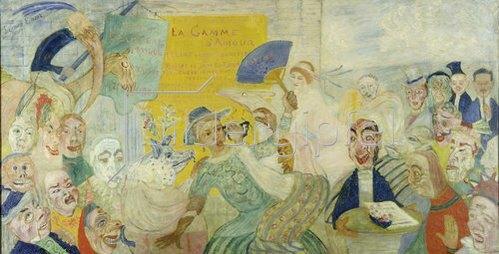 James Ensor: La Gamme d'Amour. 1915.