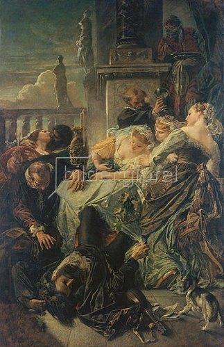 Anselm Feuerbach: Der Tod des Pietro Aretino. 1854