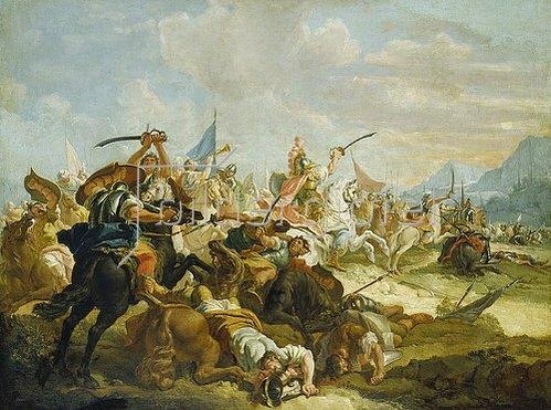 Francesco Fontebasso: Josua lässt in der Amoriterschlacht die Sonne stillstehen. Um 1745-55