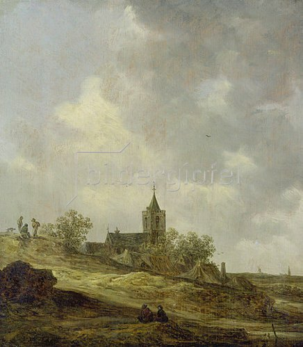 Jan van Goyen: Dorfkirche in Dünenlandschaft. 1646