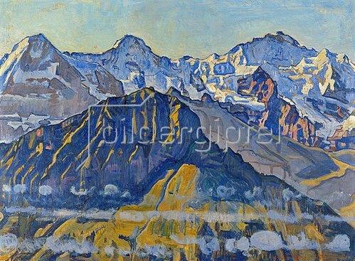Ferdinand Hodler: Eiger, Mönch und Jungfrau in der Sonne.
