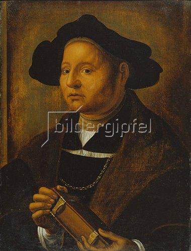 Hans Holbein d.J.: Bildnis eines Mannes mit Buch.