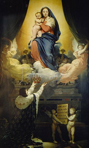 Jean Auguste Dominique Ingres: Das Gelübde Ludwigs XIII (1601-43). 1824
