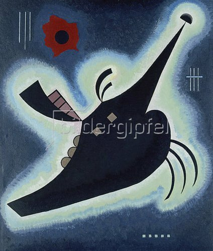 Wassily Kandinsky: Spitzes Schwarz. 1931.
