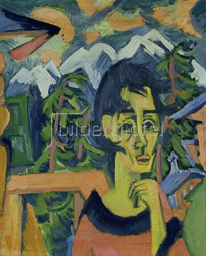 Ernst Ludwig Kirchner: Mädchen im Föhn.
