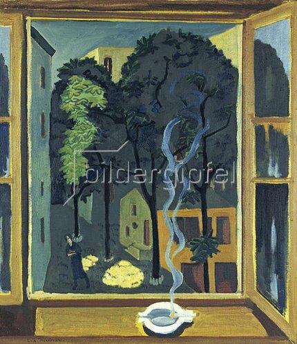 Ernst Ludwig Kirchner: Hof mit Sonnenstrahlen.